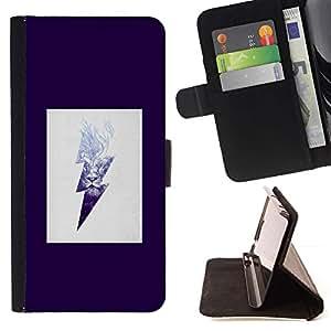 For Samsung Galaxy Note 4 IV Case , Roca púrpura eléctrico Beige- la tarjeta de Crédito Slots PU Funda de cuero Monedero caso cubierta de piel