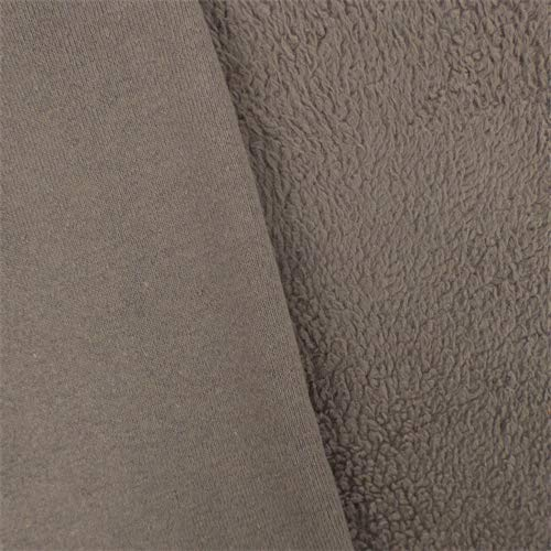Ash Grey Single-Sided Berber Fleece, Fabric by The Yard
