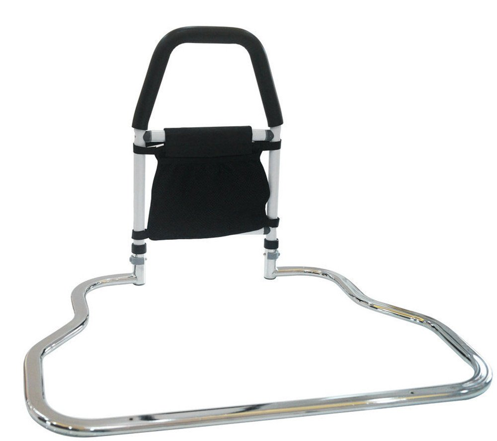 FHLYCF Flat tube, bedside safety handrail, guardrail, old woman, pregnant woman, disabled person, stand up, power stand, cage, anti falling armrest FHLYCF Handrail