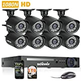 Zclever 8Ch 1080N AHD Night Vision CCTV Security Camera System Surveillance DVR Kits with HDD Review
