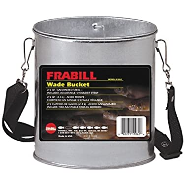 Frabill Galvanized Wade Bucket, 2-Quart