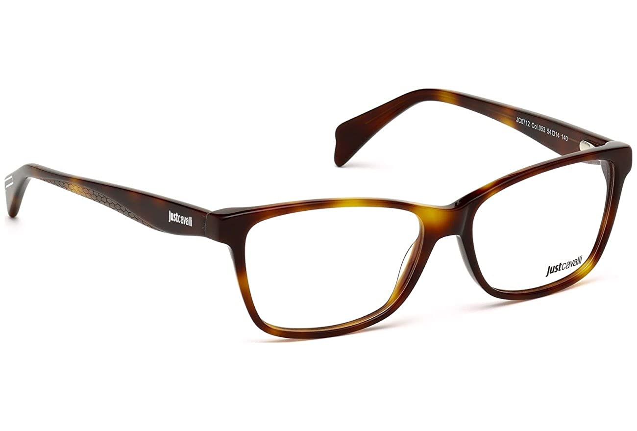 48f1366a9e9 Amazon.com  JUST CAVALLI Eyeglasses JC0712 053 Blonde Havana 54MM  Clothing
