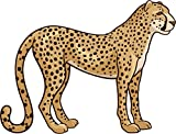 Cheetah Animal Home Decal Vinyl Sticker 14'' X 10''