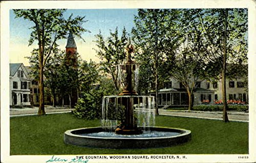 The Fountain, Woodman Square Rochester, New Hampshire Original Vintage Postcard (Rochester Fountain)