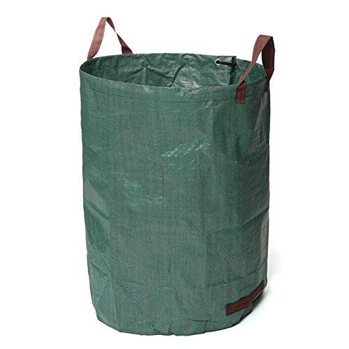 AloPW Yard Waste Bags 120L/300L/500L Large Capacity Heavy Duty Garden Waste Bag Durable Reusable Waterproof Yard Leaf Grass Container Storage
