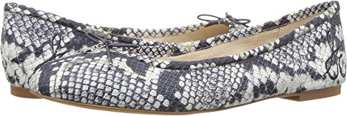 Sam Edelman Women's Felicia Grey Matte Diamante Snake Leather 9.5 W US (Matte Snake Footwear)
