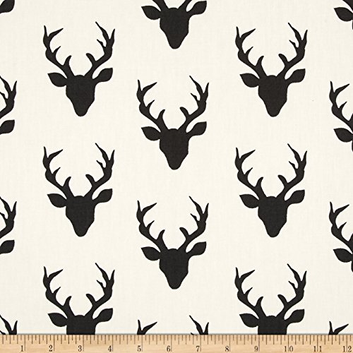 Deer Fabric - Art Gallery Hello Bear Buck Forest Night Fabric by The Yard
