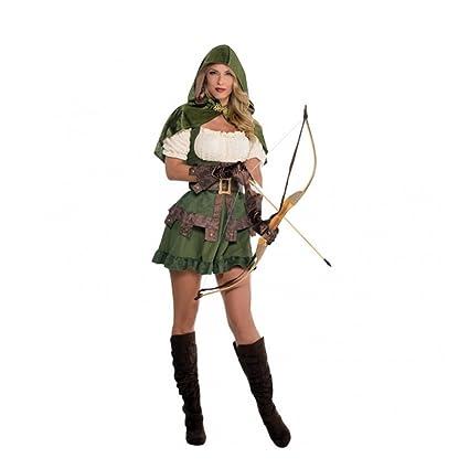 Amakando Vestimenta Mujer de los bosques Disfraz Sexy Robin ...