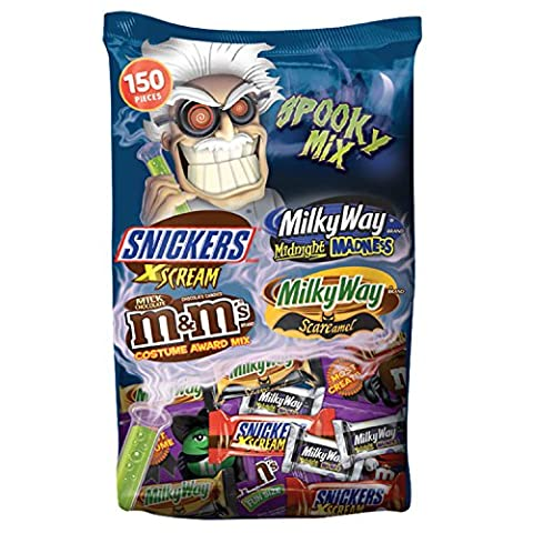 MARS Chocolate Spooky Mix Halloween Candy Variety Mix 150-Piece Bag, 70.33 Ounce - Fall Assorted Chocolates