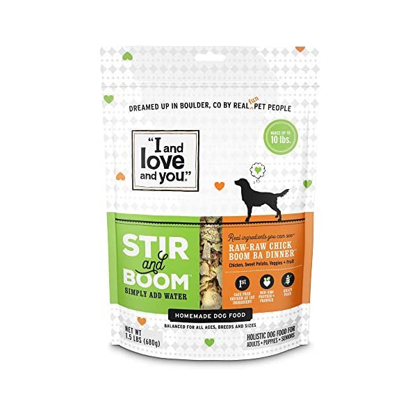 """""""I and love and you"""" Stir & Boom Dehydrated Freeze Dried Raw Dog Food Topper (Variety of Flavors) 1"""