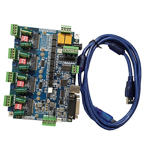 Dovewill USB 4 Axis CNC Motion Control Card Breakout Board 200K Support Mach3