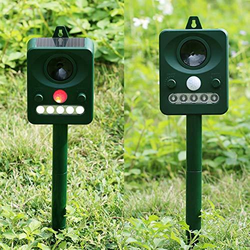 GADEMATA | Repellents | Solar Power Ultrasonic Animal Repeller Outdoor Cat Dog Animal Chaser Deterrent Repellent Garden Pest Control (Repeller Pest Ultrason)