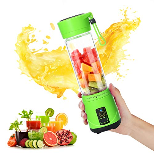 SUNAVO BL-10 Portable Blender Mixer USB Rechargeable,Blender Smoothie Single Served,USB Electric Safety Juicer Cup,Shakes and Smoothies Blender,USB Charging Sport Mini Juice Maker 148 watts,Green,Christmas For Sale