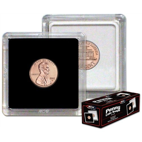 BCW 1-CS-Pen 2X2 Coin Snap - Penny - Black by BCW