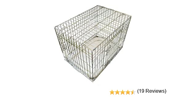Ellie-Bo Jaula de lujo extrafuerte, 2 puertas, plegable, para perros, con cama grande de piel de oveja, talla mediana: Amazon.es: Productos para mascotas