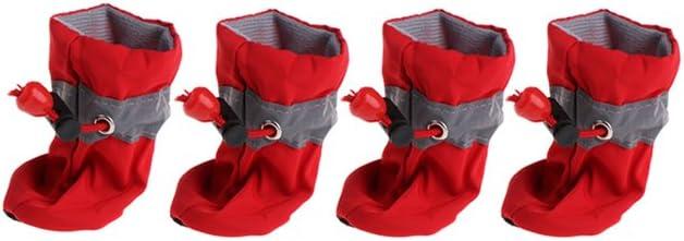 Approx.11Kg dog wiffe Wasserdichte Hunde-Schuhe Regen Schnee Schuhe mit Antirutsch-Schuhe f/ür kleine Hunde//Welpen 7# blau