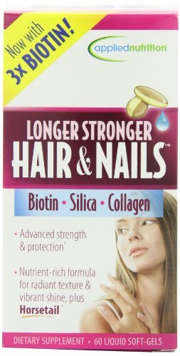 Applied Nutrition Longer Stronger Hair And Nails 60 Count Pack Of 3