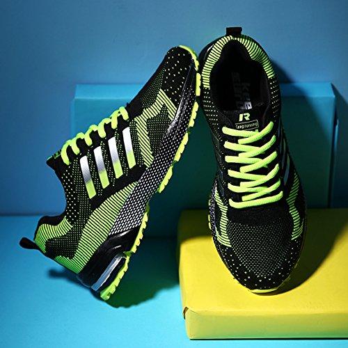 Chaussures Athltique Et Dcontractes Senbore Sportifs Vert De Sport Fitness 2 Pour Flats Noir Baskets Comptition Trainers Hommes dR76R