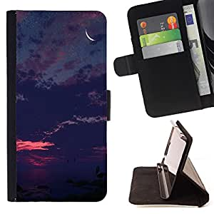 - Moon Night - - Style PU Leather Case Wallet Flip Stand Flap Closure Cover FOR Samsung Galaxy S4 IV I9500 - Devil Case -