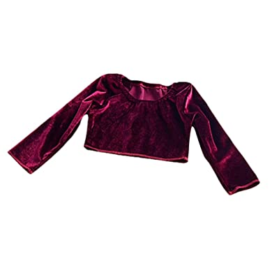 FORESTIME Newborn Infant Kid Girls Long Sleeve Solid Warm Flock Tops Outfits Clothes