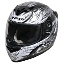 Xpeed Helmet XP 509 Valor Helmet (Silver, Small)