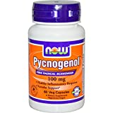 Pycnogenol, 100 mg, 60 vcaps by Now Foods (Pack of 4)