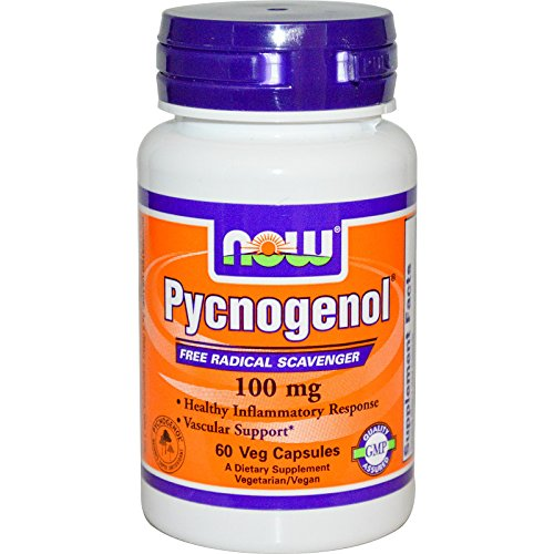 NOW Foods - Pycnogenol R 100 mg 60 cap R (Pack of 4) by NOW Foods