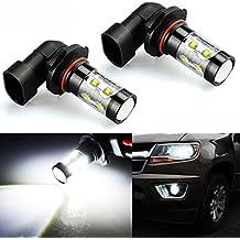 JDM ASTAR Extremely Bright Max 50W High Power H10 9145 LED Fog Light Bulbs for DRL or Fog Lights, Xenon White