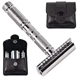Parker A1R - 4 Piece Travel Safety Razor & Leather Case