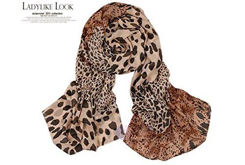 TAORE Leopard Infinity Scarf Long Muffler