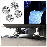 FidgetKute 4X Crystal Rhinestone Bling Car Seat Headrest Collars Decoration for Girl Women