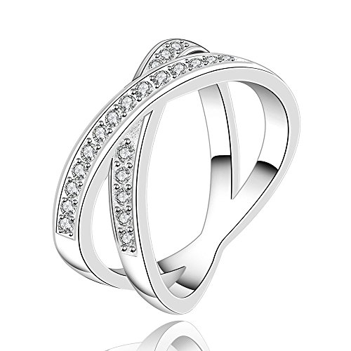 Happy Gogou Hot Sale Cubic Zirconia Wedding Rings for Women