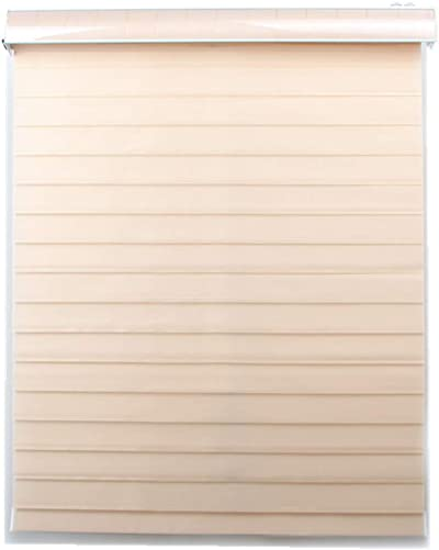 Custom Size Tripe Blinds Shangri-la Roller Shades for Rooms Max Width 93 , Any Length from 78 to 98 10 Colors for Choice