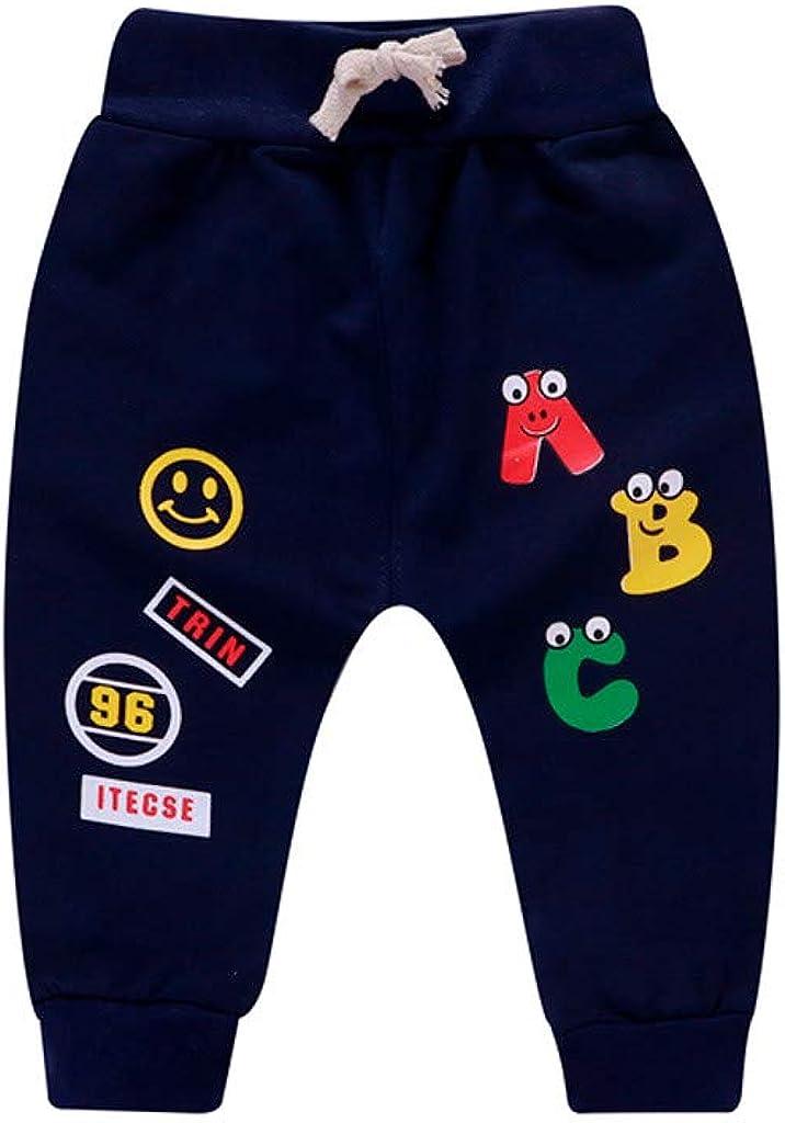 Pantalones Bebé, Chandal Bebé Recién Nacido bebé niña niño Carta de Dibujos Animados Impresos Pantalones Casuales Pantalones Deportivos