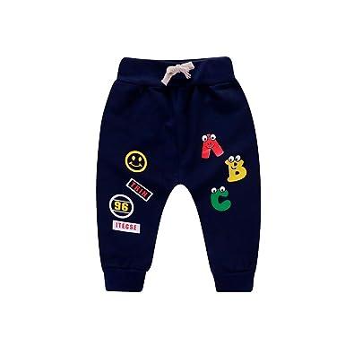 Amlaiworld Pantalones Bebé, Chandal Bebé Recién Nacido bebé niña niño Carta de Dibujos Animados Impresos Pantalones Casuales Pantalones Deportivos