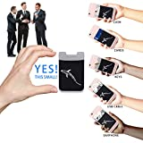 Card Holder JOWTTE Credit Card Wallet Case Stick on, iPhone Case with Card Holder for ID Keys Earphones, Money Clip for iPhone, Samsung, All Smart Phones