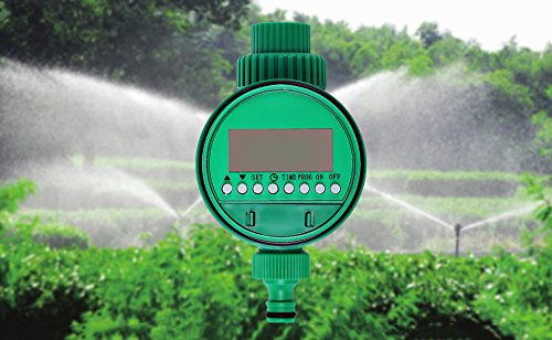 LCD Waterproof Automatic Electronic Garden Water Timer Solenoid Valve Garden Irrigation Sprinkler Control Watering System