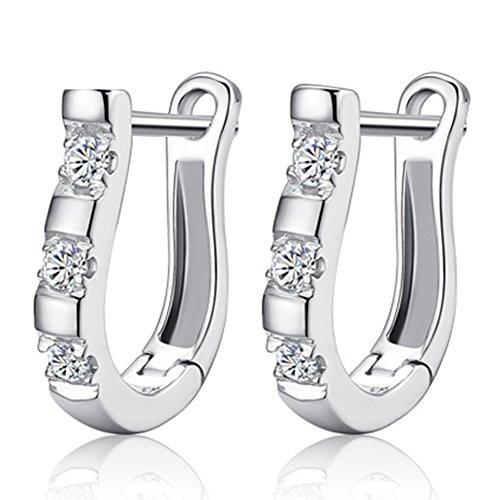 [C.H Angle Women's High-end 925 Sterling Silver Bubkle Harp Earrings] (Girls Jade Princess Costumes)