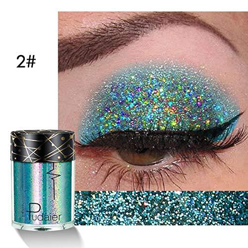 Eye Shadow & Body Shimmer Powder - Evelove Women Cosmetic Make Up Glitter Shimmer Eyes Body Lips Powder Eyeshadow