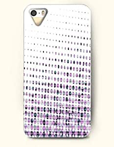 iPhone 5/5S Case, OOFIT Phone Cover Series for Apple iPhone 5 5S Case (DOESN'T FIT iPhone 5C)-- Dot Gradient In White Background -- Polka Dot Series