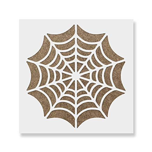 Spider Web Stencil Template - Reusable Stencil