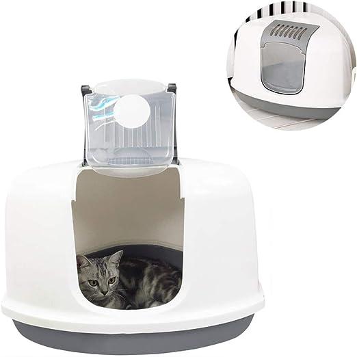 SWQG-Sartén Inodoro para Gatos De 10 Kg Triángulo Cubierta Caja De Arenero para Gatos Pon Una Jaula De Esquina ARENERO-Fácil de Limpiar: Amazon.es: Hogar