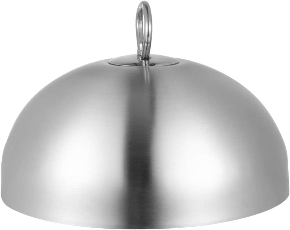 HEMOTON Cheese Melting Dome Stainless Steel Steam Basting Cover Heavy Duty Anti Oil Splashing Food Cover Dish Lid for Griddle Grill Restaurant Home 20cm