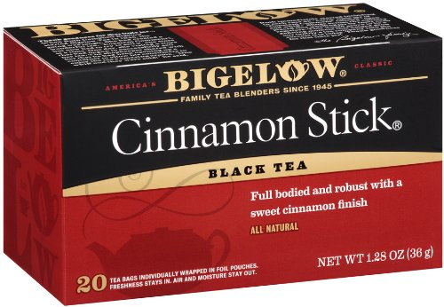 Bigelow Cinnamon Stick Black Tea Bags, 20-Count Boxes (Pack of 6), Cinnamon Flavored Black Tea, Naturally & Artificially Flavored