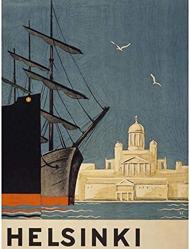 ポスター 旅行観光ヘルシンキフィンランドトゥオミオキルコ大聖堂船 A4サイズ [インテリア 壁紙用] 絵画 アート 壁紙ポスター