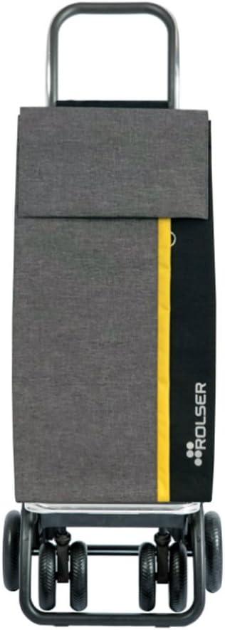 ROLSER carro de la compra Kangaroo gris amarillo y negro