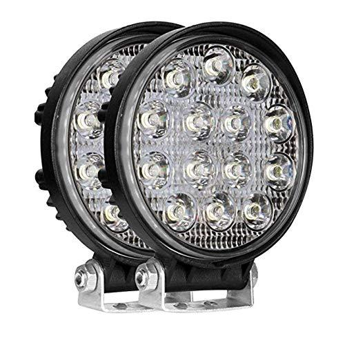 CABET 14 LED Round Fog Light Waterproof Driving Spot Flood Combo Beam Roof Bar Bumper Lamp Pod for Motorcycles, Cars…