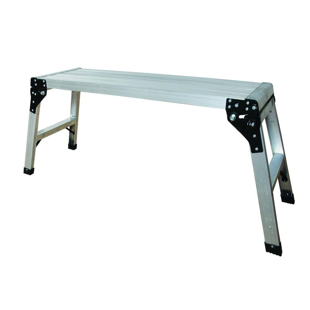Metaltech E-PWP7100AL 39 in. Aluminum Portable Work Platform with 225 Lb. Load Capacity