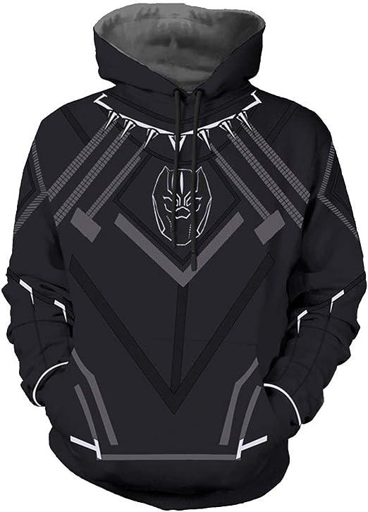 Black Panther Super Hero Sudadera con Capucha Casual Jersey ...