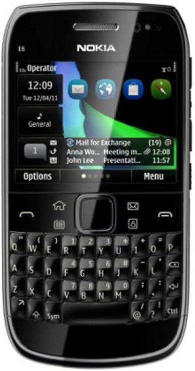 Nokia E6-00 Smartphone - Wi-Fi - 3.5G - Bar - Black: Amazon.es ...
